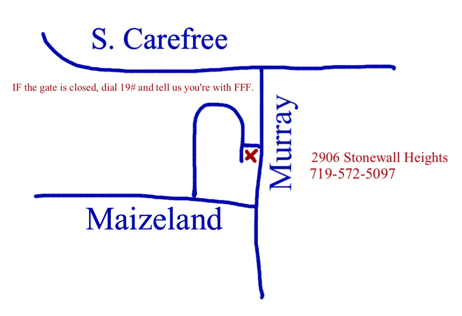 Map to Karen and Erin's, 2906 Stonewall Heights